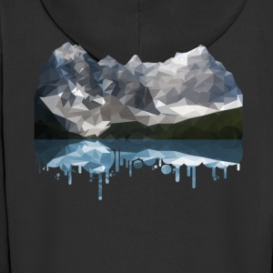 Mountains Low Poly - Men's Premium Hooded Jacket