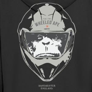 Das Two Wheeled Ape Big Head Design Licht - Männer Premium Kapuzenjacke