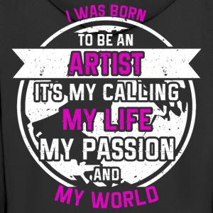 Artist from passion - Men's Premium Hooded Jacket