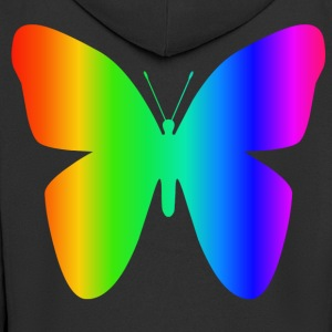 Rainbow Butterfly - Men's Premium Hooded Jacket