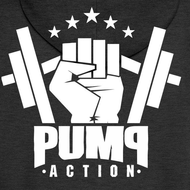 PUMP-ACTION LOGO WHITE