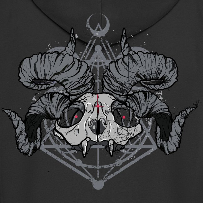 FRONT PRINT:: Racoon Demonlord_by KAOZ ATTITUDE