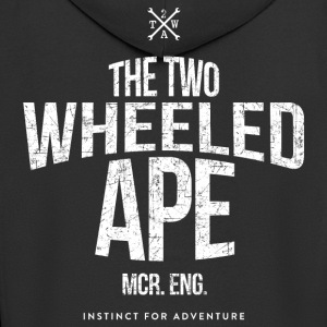 Two Wheeled Ape Logotype Biker T shirt - Men's Premium Hooded Jacket