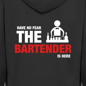 Have No Fear The Bartender Is Here - Men's Premium Hooded Jacket