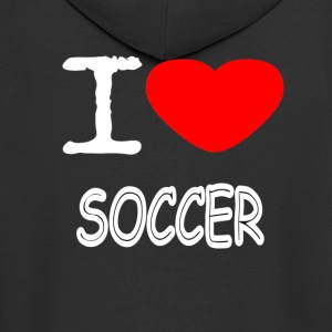 I LOVE SOCCER - Men's Premium Hooded Jacket