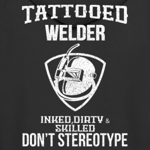 Tattooed welder - Men's Premium Hooded Jacket