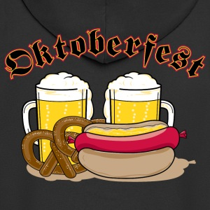 Oktoberfest Personalize with Date or Year - Men's Premium Hooded Jacket