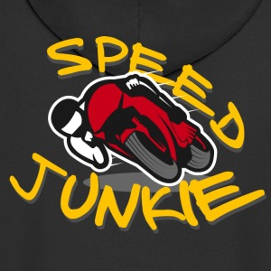 JUNKIE Speed ​​- Motorcycle Racer ROAD RACING - Rozpinana bluza męska z kapturem Premium