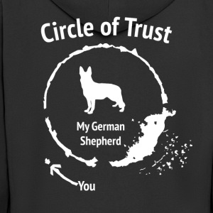 Funny German Shepherd Shirt - Circle of Trust - Männer Premium Kapuzenjacke