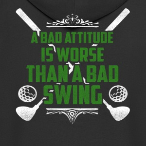 A bad attitude is bad golf - Men's Premium Hooded Jacket