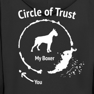 Funny Boxer Shirt - Circle of Trust - Men's Premium Hooded Jacket