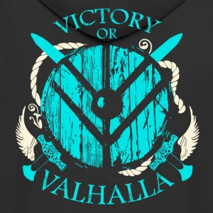 Victory or Valhalla (Viking Shirt) - Men's Premium Hooded Jacket