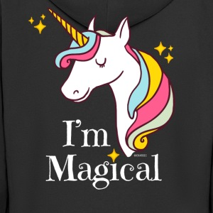 I'm Magical Unicorn T-Shirt in Black - Men's Premium Hooded Jacket