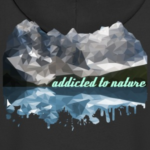 addicted to nature - Men's Premium Hooded Jacket