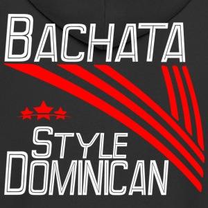 Bachata Style Dominican white - Pro Dance Edition - Men's Premium Hooded Jacket