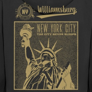 New York · Williamsburg - Premium Hettejakke for menn
