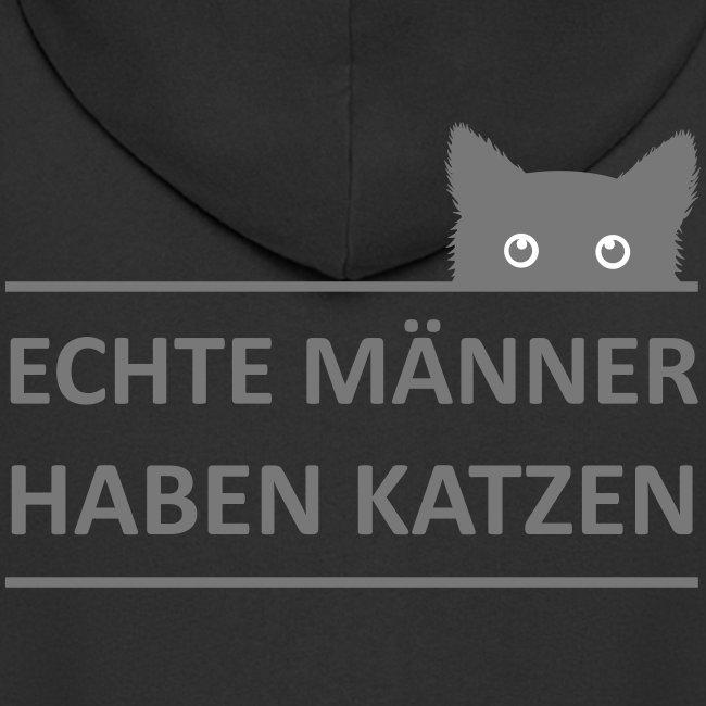 Vorschau: Echte Männer haben Katzen - Männer Premium Kapuzenjacke