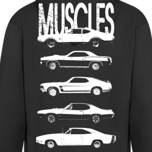 Muscles cars - Men's Premium Hooded Jacket