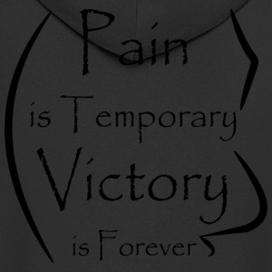 Banner Design Pain Victory - Men's Premium Hooded Jacket