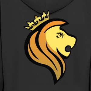 Lion of RA - Men's Premium Hooded Jacket