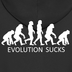 ++ ++ Evolution Sucks - Rozpinana bluza męska z kapturem Premium