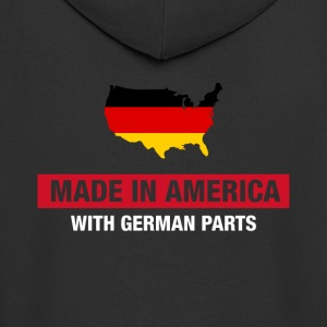 Made In America With German Parts Germany flag - Men's Premium Hooded Jacket