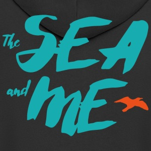 THE SEA AND ME - Men's Premium Hooded Jacket