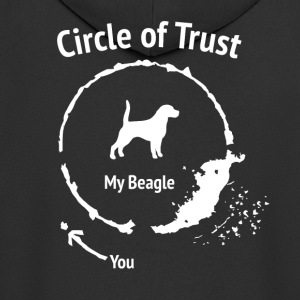 Funny Beagle skjorte - Circle of Trust - Premium Hettejakke for menn