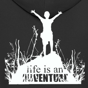 Life is an adventure - love for nature - Men's Premium Hooded Jacket