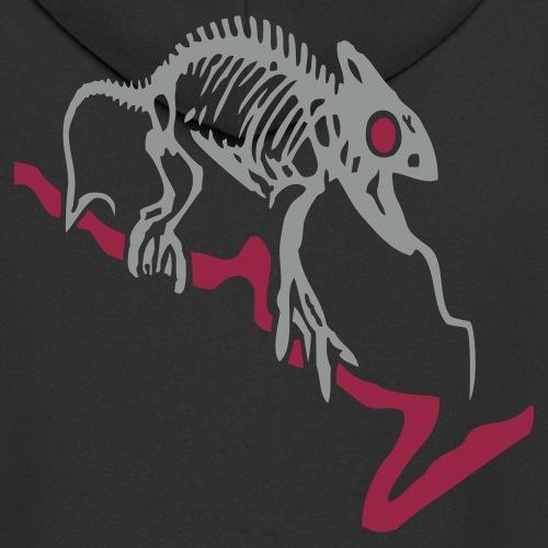 Gecko-Skelett - Männer Premium Kapuzenjacke