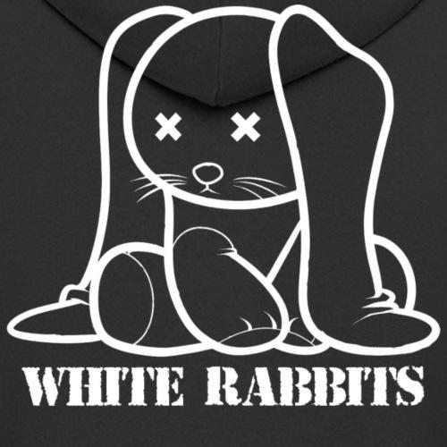 White Rabbits Logo gerade - Männer Premium Kapuzenjacke