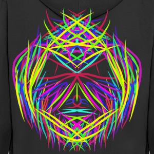 face trippy abstract psychedelic colorful - Men's Premium Hooded Jacket