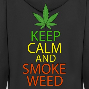 Keep Calm and Smoke Weed - Men's Premium Hooded Jacket