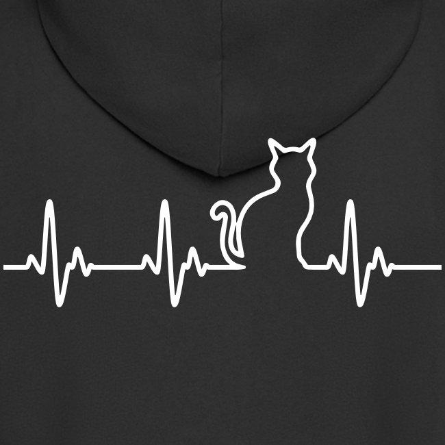 Vorschau: Ein Herz für Katzen - Männer Premium Kapuzenjacke