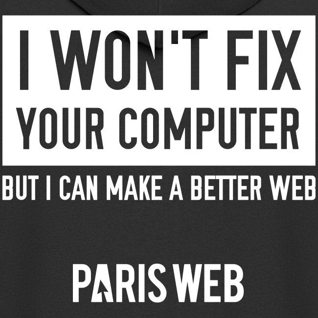 I won't fix