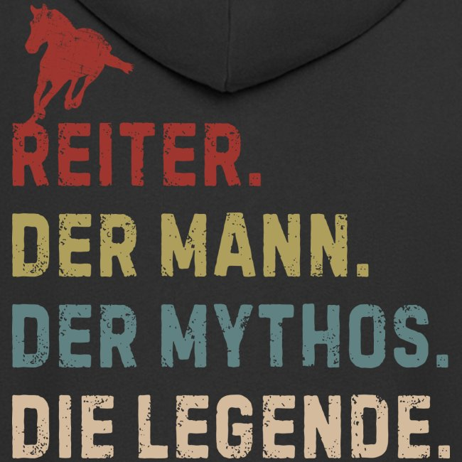 Vorschau: reiter legende - Männer Premium Kapuzenjacke