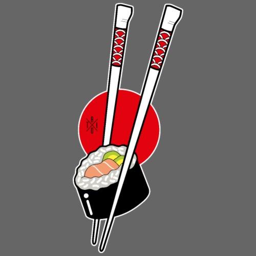 Sushi - Felpa con zip Premium da uomo