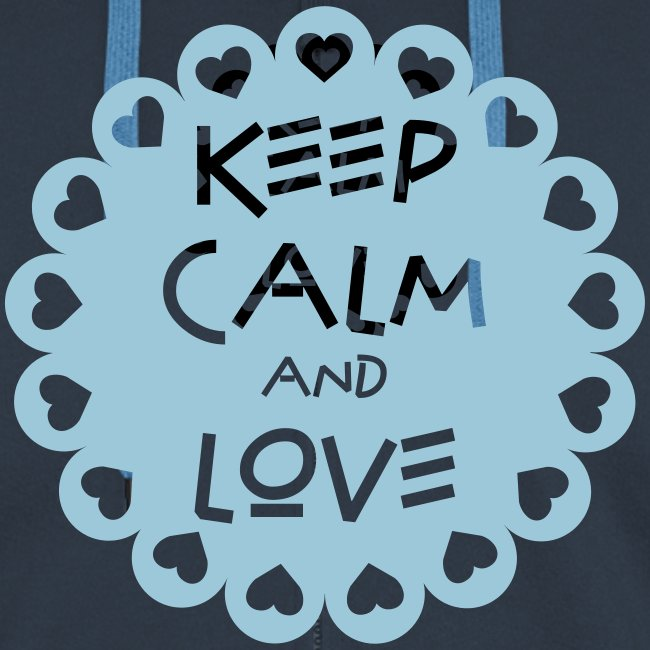 Keep calm and love moderne sur fleurette