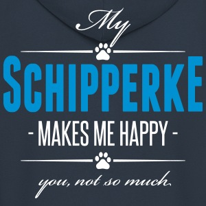 My Schipperke makes me happy - Männer Premium Kapuzenjacke