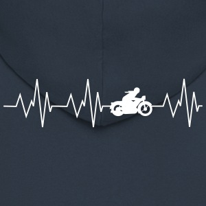 Heartbeat Motorcycling - Men's Premium Hooded Jacket