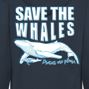 Save the whales - Men's Premium Hooded Jacket