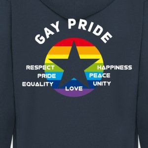 gay_star Fierté astérisque amour Respect fier cs - Veste à capuche Premium Homme