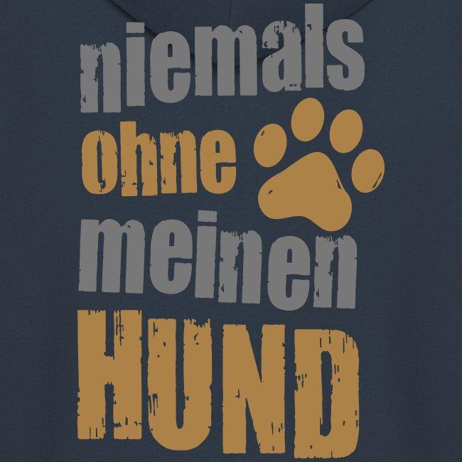 Vorschau: niemals ohne meinen hund - Männer Premium Kapuzenjacke