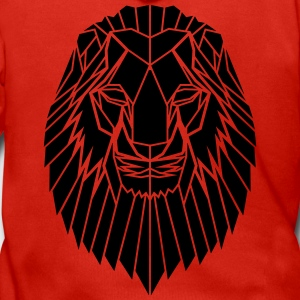 Edgy Geometric safari Lion Print by Stencilize - Men's Premium Hooded Jacket
