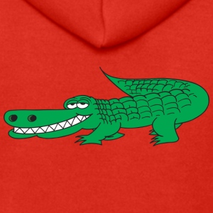 Grinning Alligator - Men's Premium Hooded Jacket