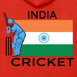 Indien Cricket Player Flag - Premium-Luvjacka herr