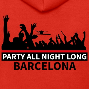 BARCELLONA Party All Night Long - Felpa con zip Premium da uomo