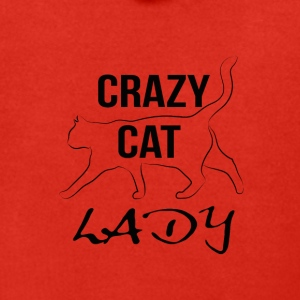 crazy cat lady - Rozpinana bluza męska z kapturem Premium