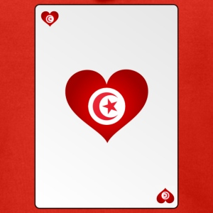 Playing Card Tunisia Heart Ass Heart - Men's Premium Hooded Jacket