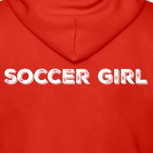SOCCER GIRL LOGO SHIRT - Men's Premium Hooded Jacket